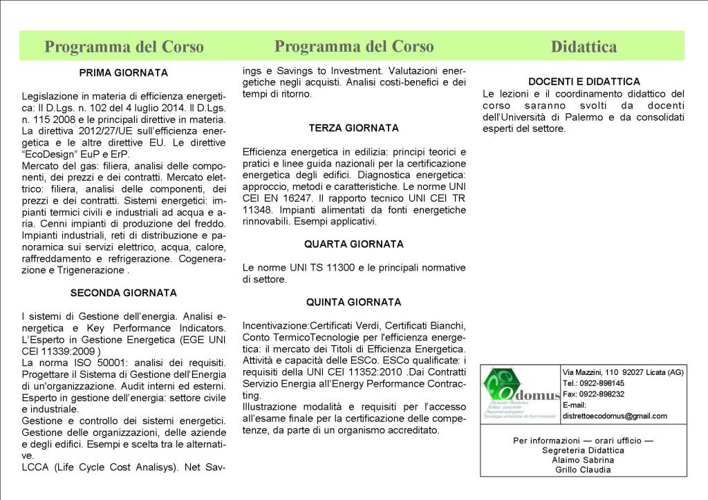 Brochure CORSO EGE 2