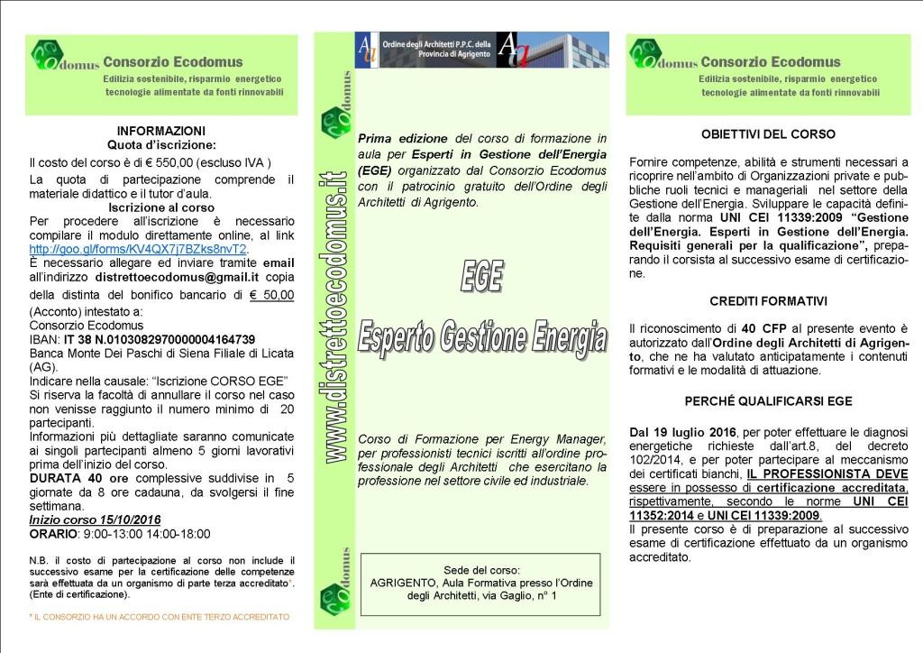 Brochure CORSO EGE MOD